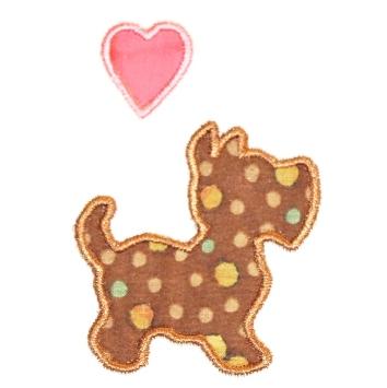 Medium Puppy and Heart
