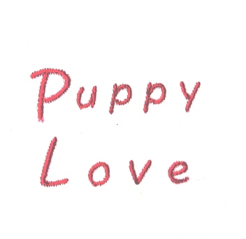 Lettering Puppy Love